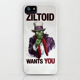 Uncle Ziltoid Wants You! iPhone Case