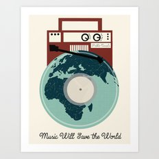 Music Will Save The World - Pablo Casals Quote Art Print