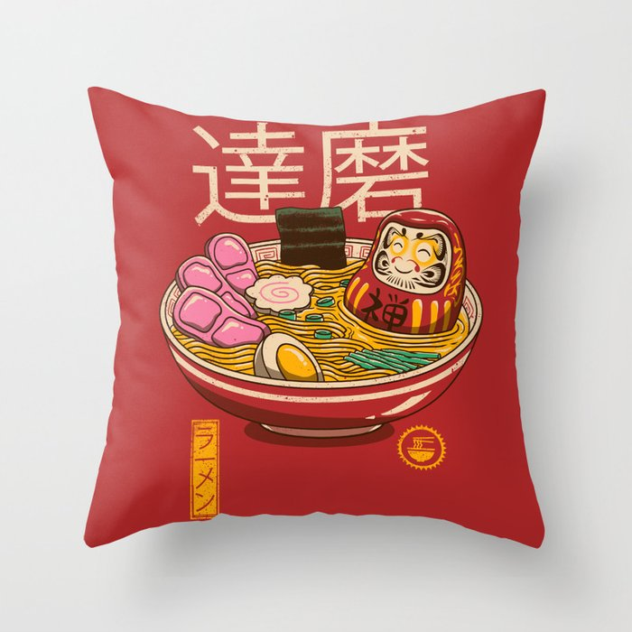 Zen Ramen Throw Pillow