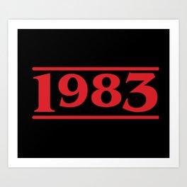 Strange 1983 Art Print
