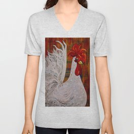I Know I am Lovely - White Rooster Unisex V-Neck