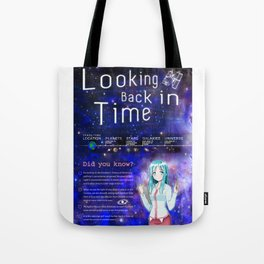 Looking Back in Time Infographic Tote Bag