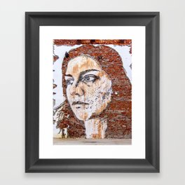 Painted women's face  Framed Art Print