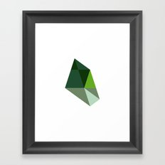 #448 Forest topography – Geometry Daily Framed Art Print