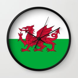 Flag of Wales - Hi Quality Authentic version Wall Clock