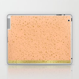 Coral and gold floating dots Laptop & iPad Skin