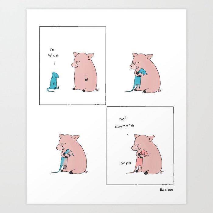 Blue Kunstdrucke