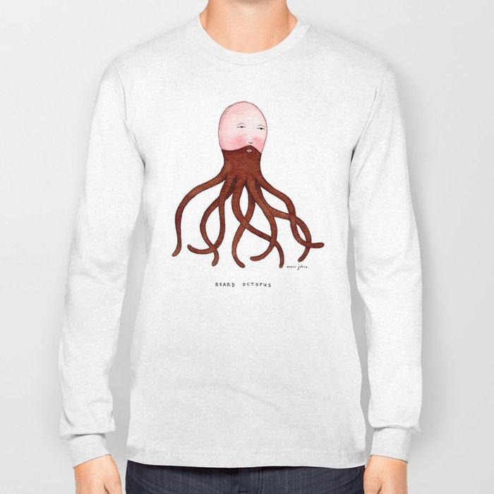 Beard Octopus Long Sleeve T-shirt