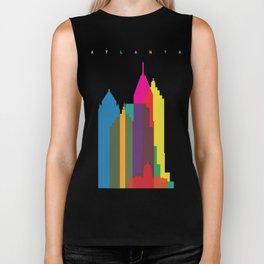 Shapes of Atlanta. Accurate to scale Biker Tank