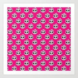 1 Cool Cat- hot pink Art Print