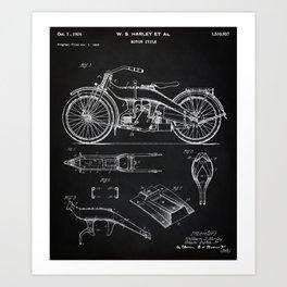 1924 Motorcycle Patent Art Art Print