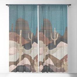 Desert Stars Sheer Curtain