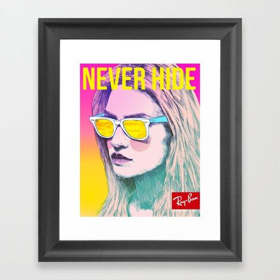 Ray-Ban Never Hide Framed Art Print