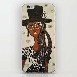 Miss Hat Lady iPhone Skin