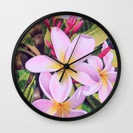Hawaiian Plumerias Wall Clock