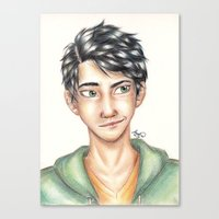 percy jackson Canvas Prints featuring Percy Jackson by Sandra