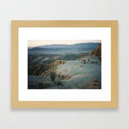 Anza Borrego camp Framed Art Print