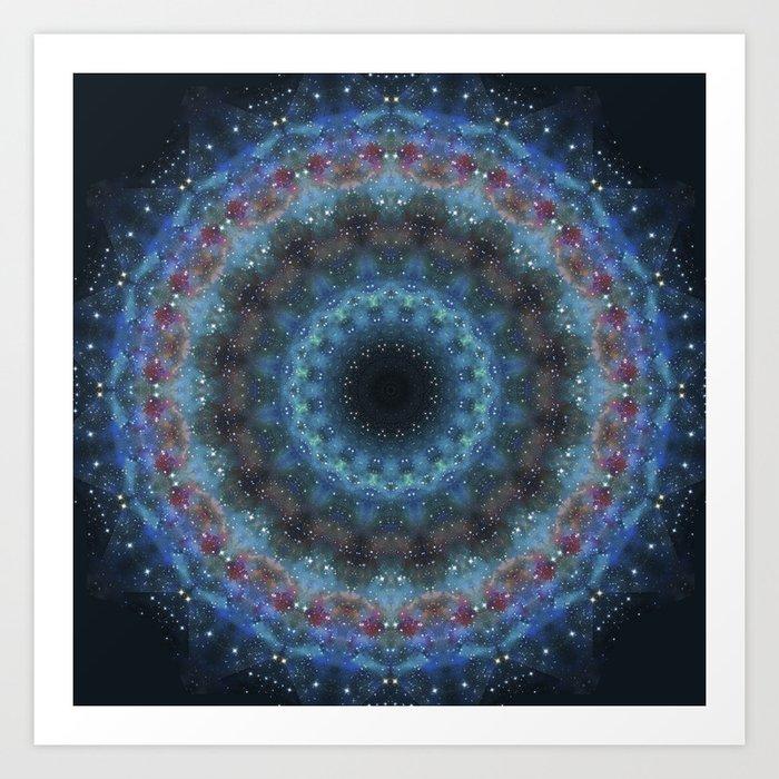 Galaxy Mandala Art Print
