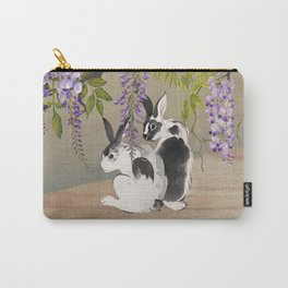 Two Rabbits Under Wisteria Tree Carry-All Pouch