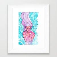 luna Framed Art Prints featuring Luna by Verismaya