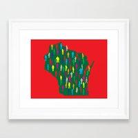 waldo Framed Art Prints featuring Waldo, Wisconsin by Project Wisconsin