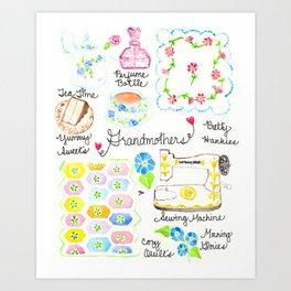 Grandmothers Art Print
