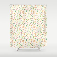 Colourful Daisies Shower Curtain