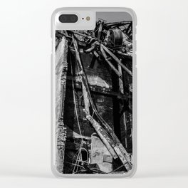 Crumbling Building Clear iPhone Case