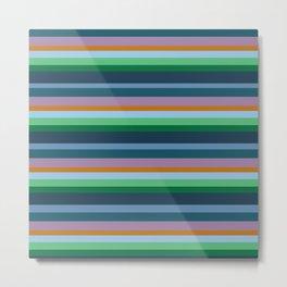 Blue,Green & Orange Stripes Metal Print