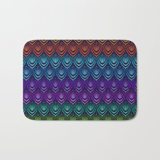 Variations on a Feather I - Deco Style Bath Mat