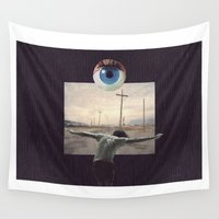 frame Wall Tapestries featuring Mind frame by Andy McFly
