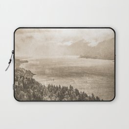 Sepia Vintage River Forest - Columbia River Gorge Laptop Sleeve