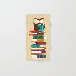 Owl Reading Rainbow Hand & Bath Towel