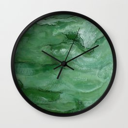 Jade - Original Art (encaustic painting) Wall Clock
