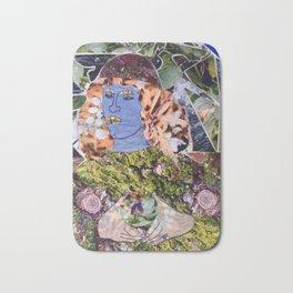 a la Sandro Botticelli, a collage by Cecilia Lee, Whipple Hill Art Collective Bath Mat