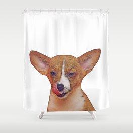 winking puppy Shower Curtain