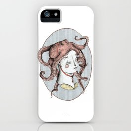 The Girl with an Octopus Hat iPhone Case