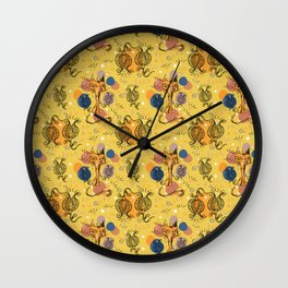 yellow chat Wall Clock