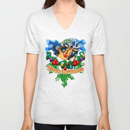 Rudolph (3 of 7 Characters) Unisex V-Neck