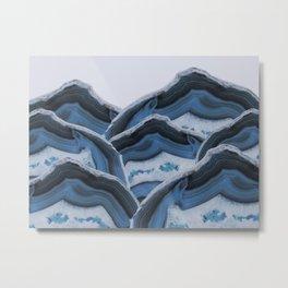 Agate Blue Mountains Metal Print