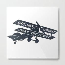 Day And Night Enjoy The Flight Metal Print