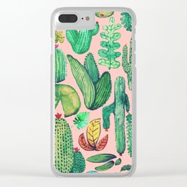 Nature Mix Pink!! Clear iPhone Case