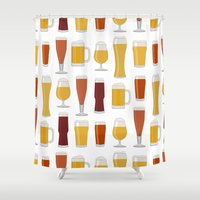 beer Shower Curtains featuring Beer  by Cute to Boot