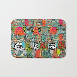 Color Riot Abstract Art Collage Bath Mat