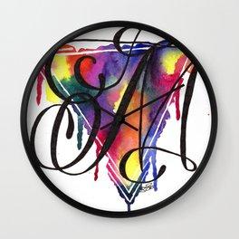 Calligraphy Capital Initial M Wall Clock
