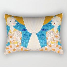 The Goldfish Keeper Rectangular Pillow