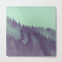Adventure Awaits Forest Metal Print