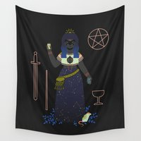 tarot Wall Tapestries featuring Witch Series: Tarot Cards by LordofMasks