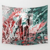 silent Wall Tapestries featuring Elephant's Silent Cries  by Eduardo Doreni