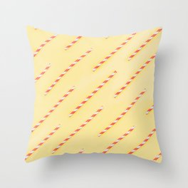 drinking straws Throw Pillow